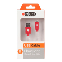 Object Flowlight USB Cable Red
