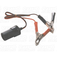 Carpoint Aux.lighter socket with 18-cable + batt.clamps