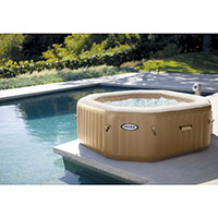 Intex Purespa Bubble Octagonal Jacuzzi (4 Person) Integrated Pump/Cover