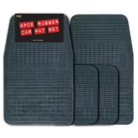 Streetwize 4 piece Rubber Mat Set -  Black Promotional