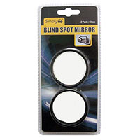 Black Circular Blind Spot Mirror (Pk 2)