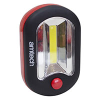 Am-Tech 2W Cob & 3 Led Worklight And Torch