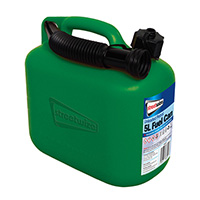 Carplan 5L Plastic Green Fuel Can (Unleaded)