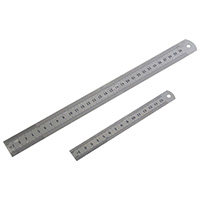 Am-Tech 2pc Steel Rule Set