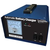 Streetwize 12V 10 Amp Battery Charger