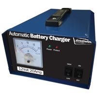 Streetwize 12V 20 Amp Battery Charger