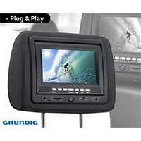 Grunding Headrest DVD Player & TFT Display