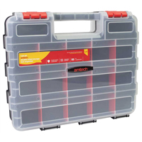 Am-Tech 34 Section Double sided Storage Box