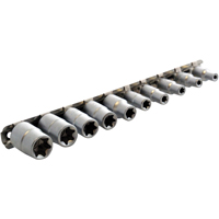 Am-Tech 3/8-inch Torq Sockets Female Type on Rail (10 Pieces)