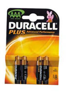 Duracell Plus Power Duralock AAA Card of 4