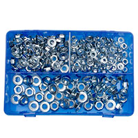 Pearl Box Of 225 Assorted Flange Nuts Metric M6M10
