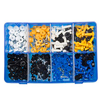 Pearl Box Of 200 Assorted Number Plate Caps & Screws Nuts - Qty 200