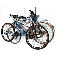 Menabo Star Folding Wall Hanger Unit for Storing 3 Bikes