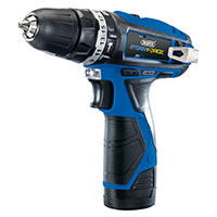 Draper Storm Force 10.8V Cordless Rotary Drill 2 batteries and charger.
