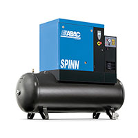 ABAC Spinn.E 5.510 270 Compressor 7.5HP 21.2cfm 10 bar 270ltr 3 Phase