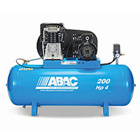 ABAC PRO B4900 200 FT4 Compressor 4HP 18cfm 11bar 200ltr - 3Phase