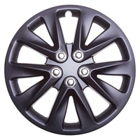 Top Tech Velocity 16 Inch Wheel Trims Matt Black (Set of 4)