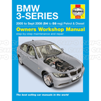 Haynes Workshop Manual BMW 3-Series petrol & diesel (05 - Sept 08) 54 to 58