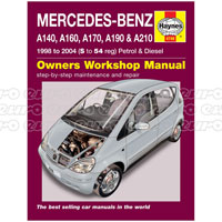 Haynes Workshop Manual Mercedes A Class Petrol & Diesel (98- 04)