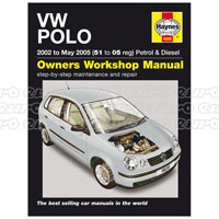Haynes Workshop Manual VW Polo Petrol & Diesel (02 - May 05) 51 to 05