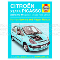Haynes Workshop Manual Citroen Xsara Picasso Petrol & Diesel (00 - 02) W to 52