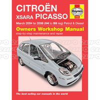 Haynes Workshop Manual Citroen Xsara Picasso Petrol & Diesel (Mar 04 - 08) 04 to 58