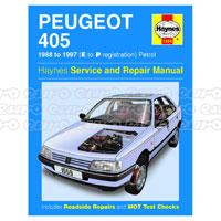 Haynes manuals haynes workshop repair manuals euro car parts click to enlarge haynes workshop manual peugeot 405 petrol 88 97 e to p fandeluxe Gallery