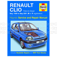 haynes workshop manual renault clio petrol diesel may 98 may 01 rh eurocarparts com Cougar Workshop Manual Haynes Workshop Manuals Ghost