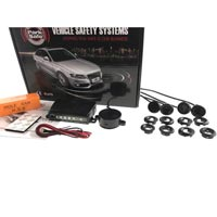 Park Safe 4pc Angled Mount Parking Sensor Kit (Rear) - Gloss Black