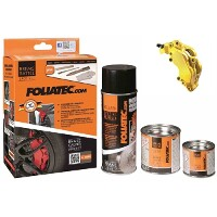 Foliatec Brake Caliper Paint Set Speed Yellow (Includes Cleaner, Brush, Gloves)