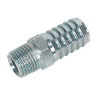 "Sealey AC40 Screwed Tailpiece Male 1/4""BSPT - 1/2"" Hose Pack of 5"