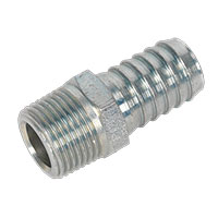 "Sealey AC42 Screwed Tailpiece Male 3/8""BSPT - 1/2"" Hose Pack of 5"