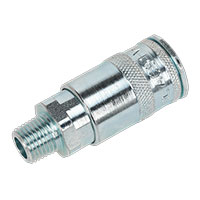 "Sealey ACP16 Coupling Body Male 1/4""BSPT Pack of 5"