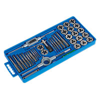 Sealey AK301 Tap & Die Set 40pc Split Dies Metric