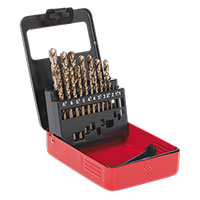 Sealey AK4701 Cobalt Drill Bit Set 19pc Metric