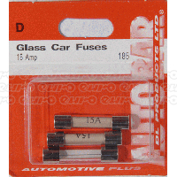 Glass Fuses 15 Amp