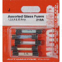 Glass Fuses 1,2,5,8 & 20 Amp