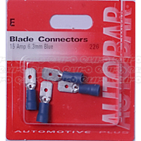 Male Blades 15 Amp 6.3mm