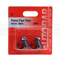 Petrol Pipe Clips  8 - 10mm