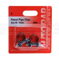 Petrol Pipe Clips 9 - 11mm
