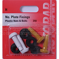 No. Plate Fixings - Plastic