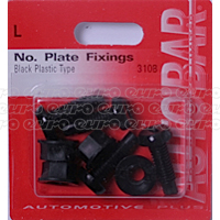 No. Plate Fixings - Black