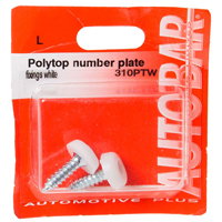Polytop Number Plate Fittings - White
