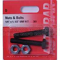 Nuts & Bolts 1/4 x 1 1/2 unf