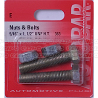 Nuts & Bolts 5/16 x 1 1/2 unf