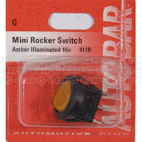 Rocker Switch Mini Amber On/Off