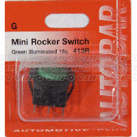 Mini Rocker Switch Green