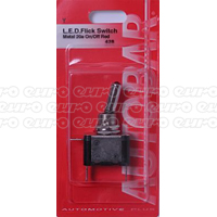 Flick Switch Red LED 20a Metal