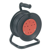 Sealey BCR153T Cable Reel 15mtr 3 x 230V Thermal Trip