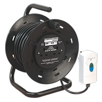 Sealey BCR25RCD Cable Reel 25mtr 4 x 230V 1.25mm? Thermal Trip with RCD Plug